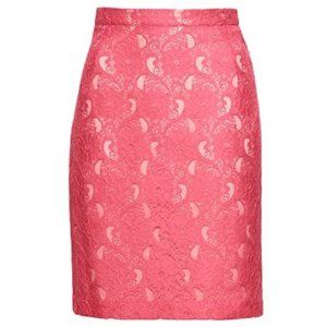 H&M Coral Lace Pencil Skirt
